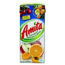 Αμίτα Πορτοκάλι Μήλο Βερίκοκο 250ml